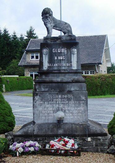 Муниципалитет Werbomont. Военный мемориал обеих войн.