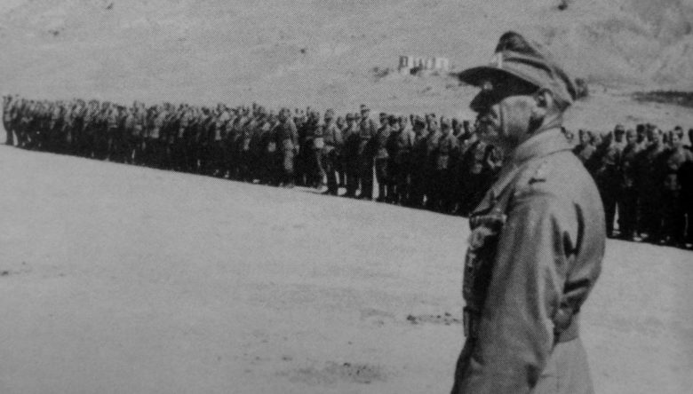 Построение 804-го азербайджанского пехотного батальона вермахта. 1942 г.