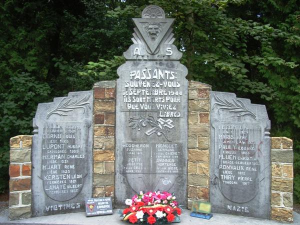 Коммуна Burnontige. Памятник героям Сопротивления.