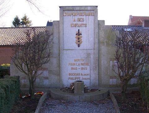 Муниципалитет Chapon-seraing. Памятник погибшим воинам и жертвам обеих войн.