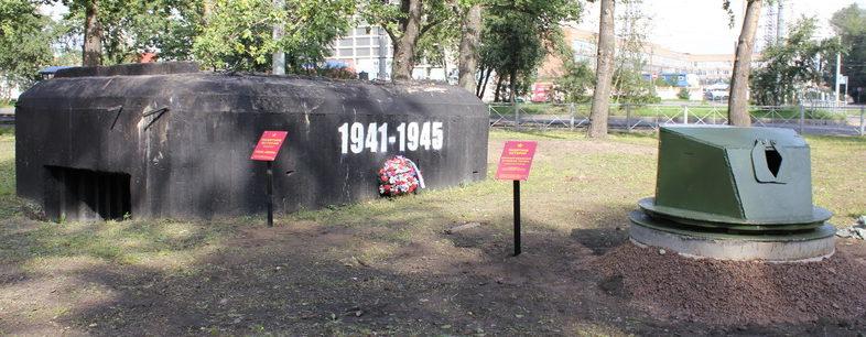 ДОТ №117, рубеж «Ижора». г. Санкт-Петербург, пересечение Корабельной с Кронштадтской ул.