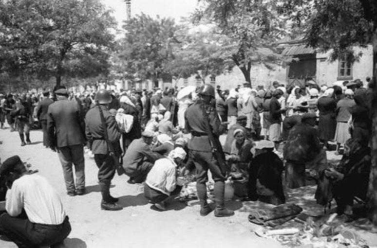 Блошиный рынок на Молдаванке. Лето 1943 г.