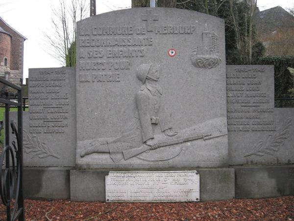 Муниципалитет Merdorp. Военный мемориал обеих войн.