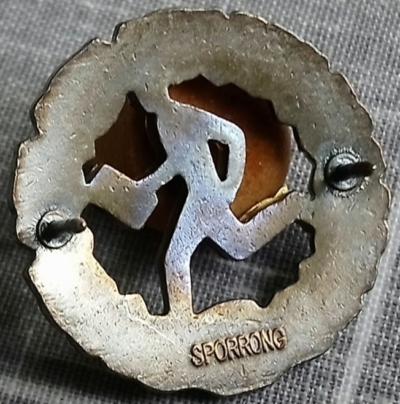 Аверс и реверс знака Шюцкора «Военное ориентирование 1-го класса».