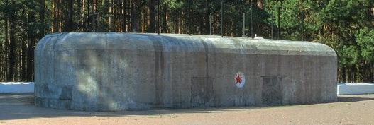 ДОТ №124, КаУР. г. Сестрорецк, у северной границы Сестрорецкого воинского кладбища.