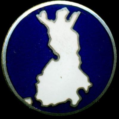Аверс и реверс знака Второй мировой войны с финской картой.