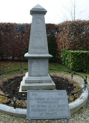 Коммуна Dolembreux. Памятник погибшим воинам и жертвам обеих войн.