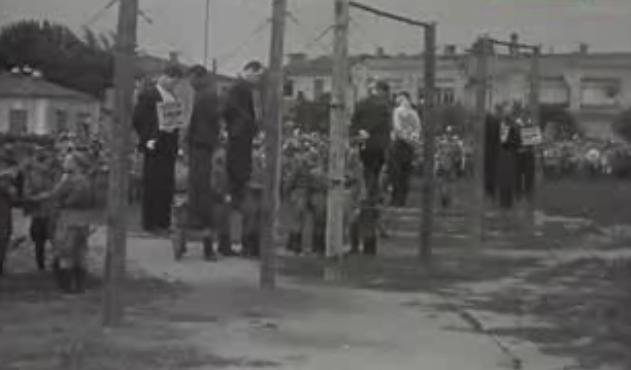 Казнь коллаборантов в Краснодаре. 14 июля 1943 г.