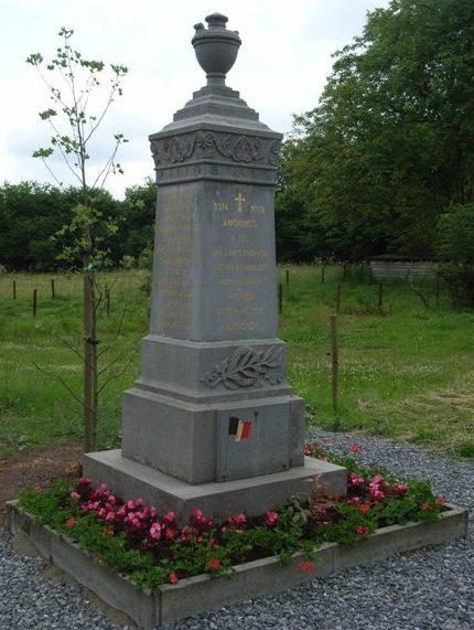 Муниципалитет Amonines. Памятник погибшим воинам и жертвам обеих войн.
