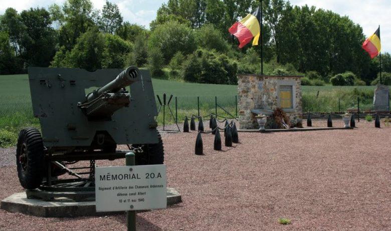 Муниципалитет Эбен-Эмаэль. Памятник воинам артиллерийского полка 20А арденовских стрелков.