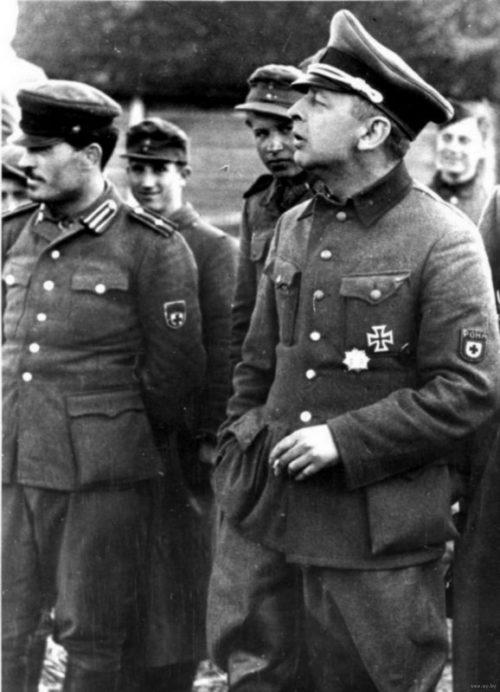 Командир «Народной бригады Каминского» РОНА Бронислав Каминский. Март 1944 г.