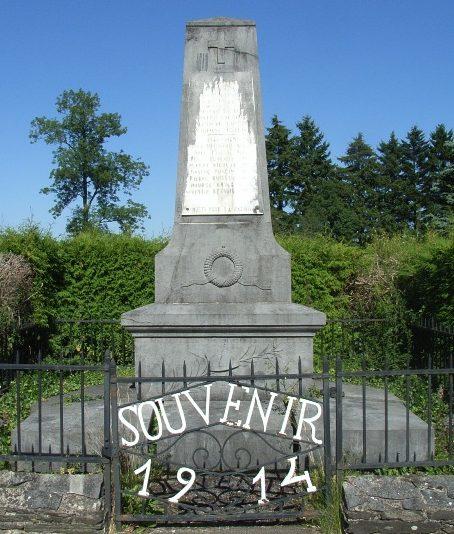 Муниципалитет Assenois. Военный мемориал обеих войн.