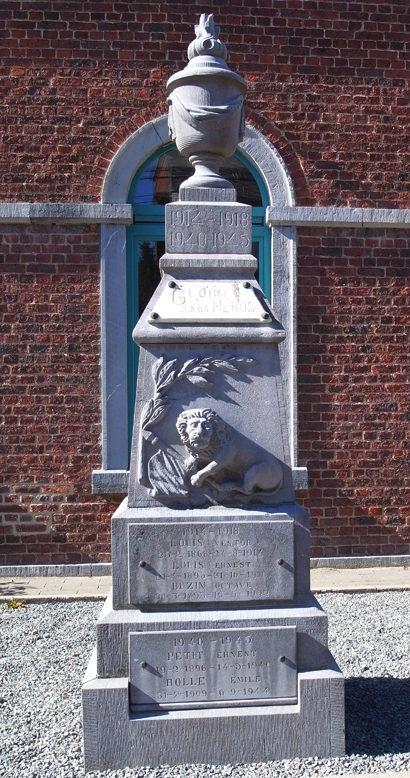 Муниципалитет Awenne. Военный мемориал обеих войн.