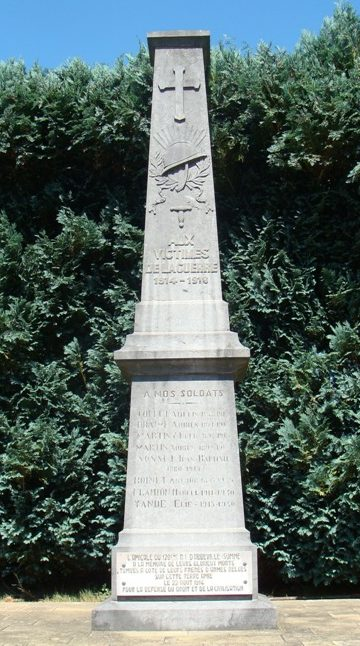 Муниципалитет Bellefontaine. Памятник погибшим в обеих войнах.