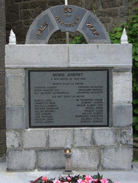 Коммуна Jenneret. Памятник погибшим воинам и жертвам обеих войн.