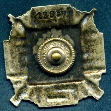 Аверс и реверс серебряного знака Шюцкора «Снайпер».