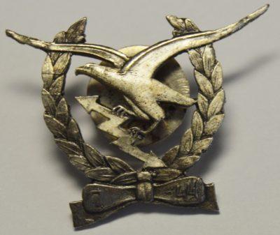Аверс и реверс знака курсов ВВС.
