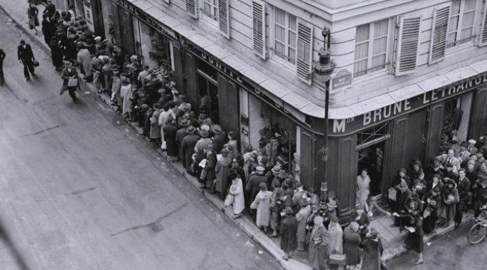 Очередь за продуктами. Весна 1944 г.