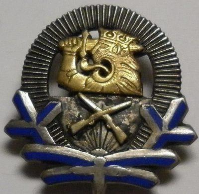 Аверс и реверс знака курсантов военного училища.
