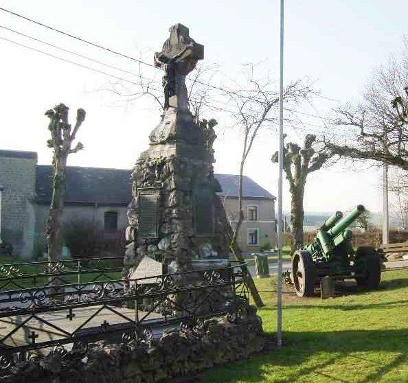Муниципалитет Черин (Cherain). Памятник погибшим воинам и жертвам обеих войн.