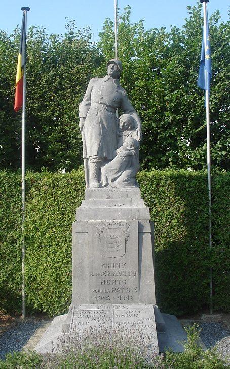 г. Chiny. HINY Военный мемориал обеих войн.