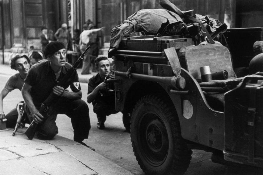 Бои во время освобождения города. 24 августа 1944 г.