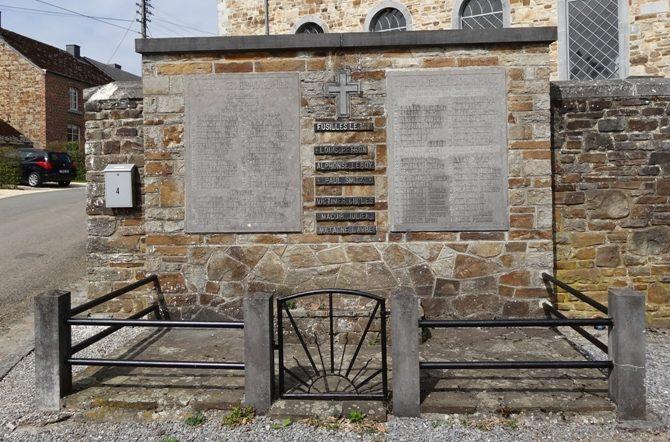 Муниципалитет Grune. Памятник погибшим воинам и жертвам обеих войн.