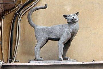 Памятник кошке Василисе.