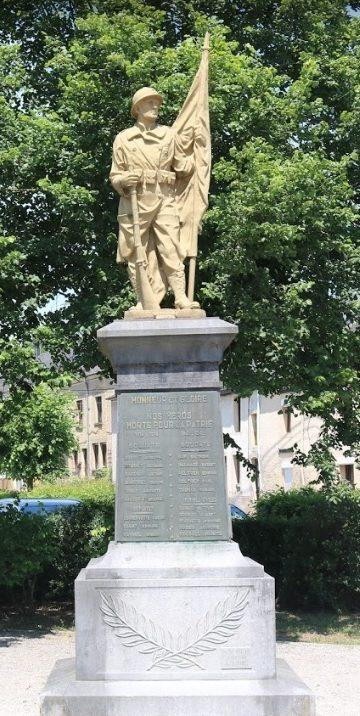 Коммуна Meix-devant-virton. Военный мемориал обеих войн.