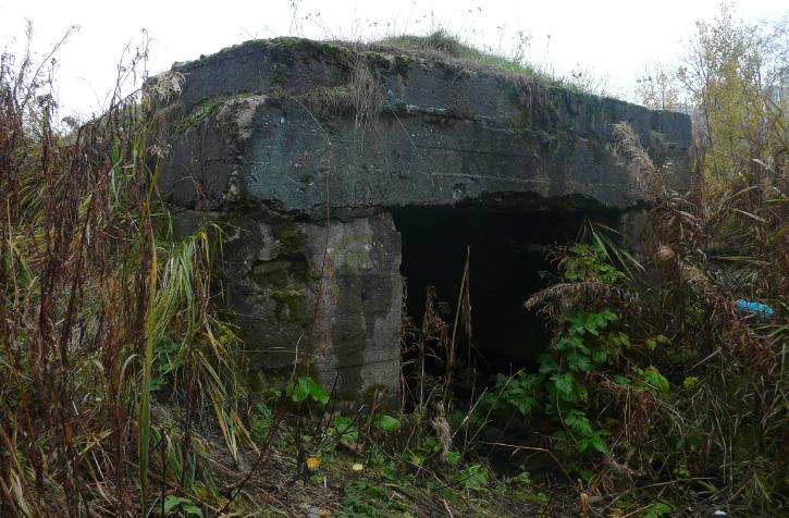 ДОТ по ул. Софийская, д. 71 на площадке бывшего радиоцентра. Артиллерийский ДОТ был построен в 1941-1943 гг.