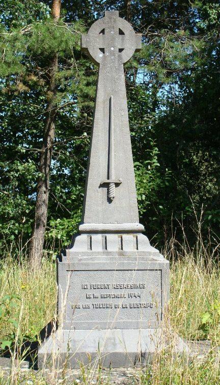 Муниципалитет Metzert. Памятник расстрелянным гражданам в 1944 г.