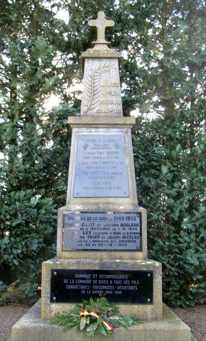 Муниципалитет Nives. Памятник жертвам обеих войн.