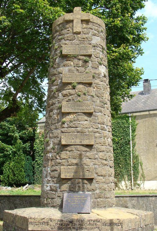 Коммуна Poncelle. Военный мемориал обеих войн.