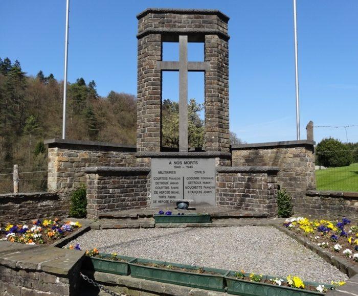 Муниципалитет Tohogne. Военный мемориал 1940 – 1945 годов.