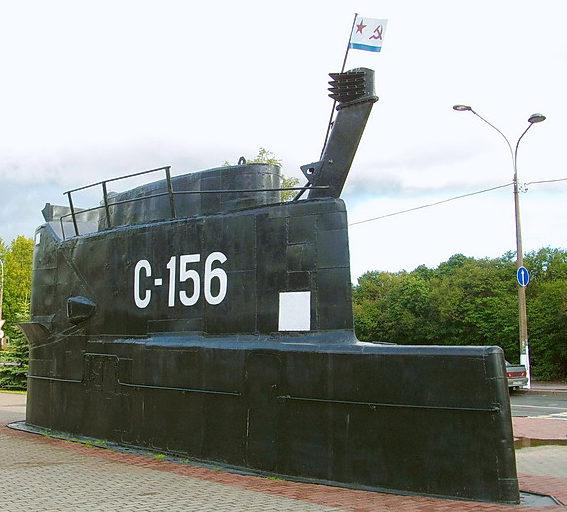 Памятник подводной лодке «Комсомолец Казахстана».