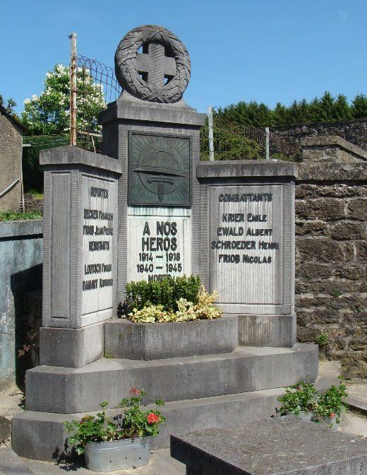 Муниципалитет Wolkrange. Военный мемориал обеих войн.
