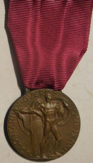 Аверс и реверс медали «За заслуги волонтеров в войне 1940-45».