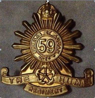 Знаки на шляпу военнослужащих 59-го пехотного батальона.