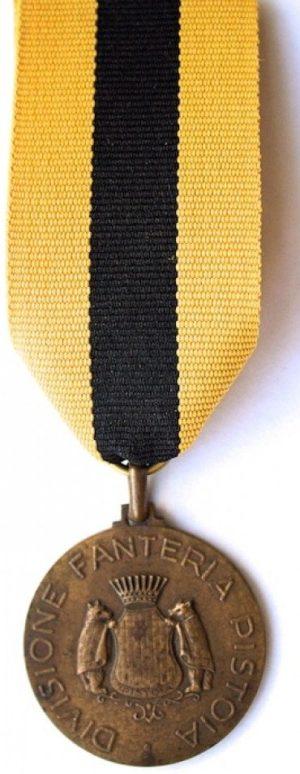 Аверс и реверс памятной медали 16-й пехотной дивизии «Pistoia».