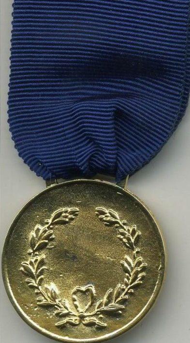 Аверс и реверс золотой медали «За воинскую доблесть». Республика.