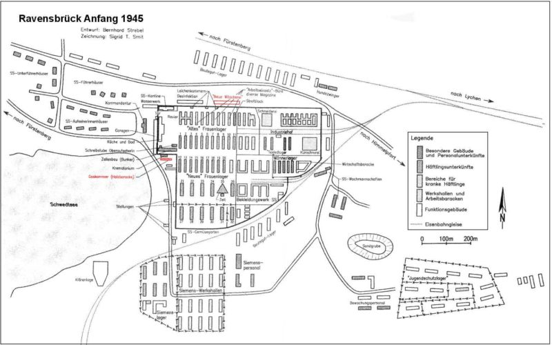 Немецкий план главного лагеря Равенсбрюк.