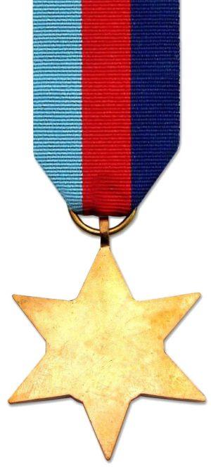 Аверс и реверс медали «Звезда 1939-45».