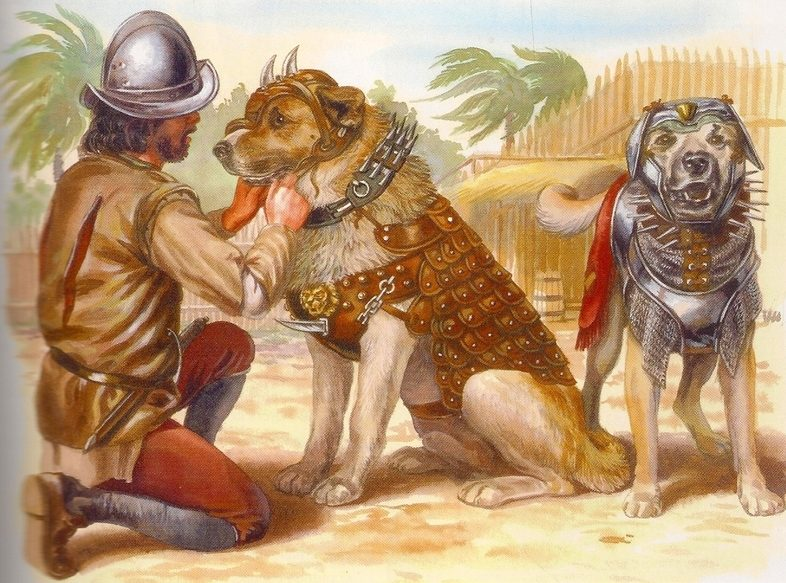 Испанские боевые собачьи доспехи ХVI века.