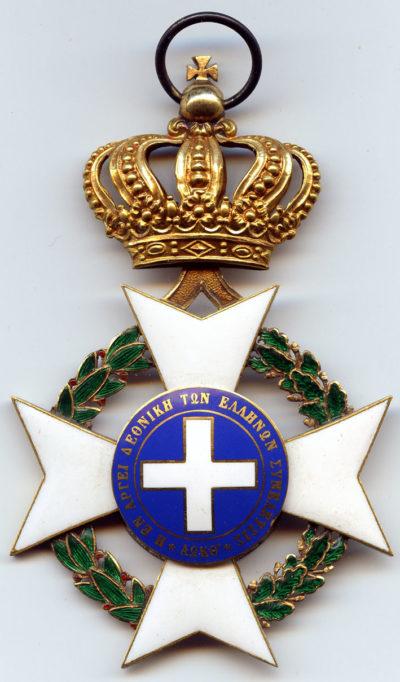 Аверс и реверс знака ордена Спасителя.