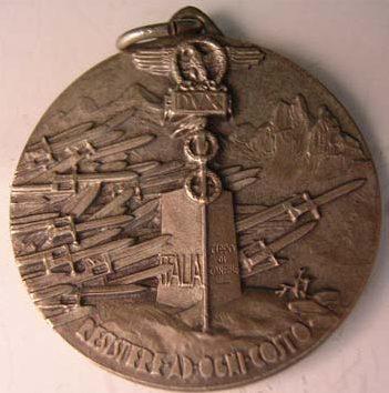Аверс и реверс памятной медали 105-го пулемётного батальона.
