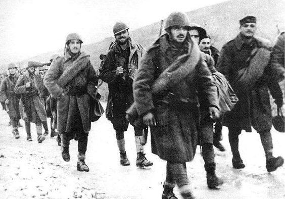 Греческие войска входят на территорию Албании. Осень 1940 г.