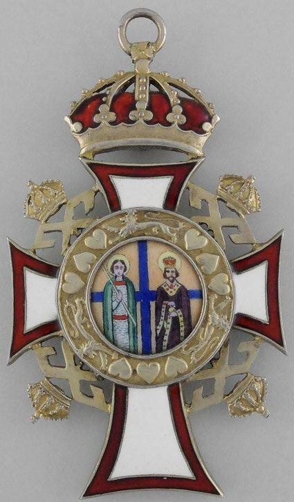 Аверс и реверс знака Большого креста ордена Святых Георгия и Константина.