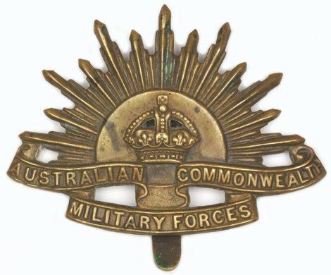 Знак для шляпы служащих вспомогательных подразделений Австралийской армии.