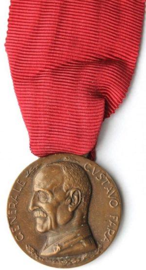 Аверс и реверс памятной медали сбора ветеранов Национальной Ассоциации берсальеров. Генуя. 1936 г.