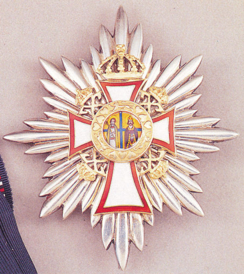 Звезда Большого креста ордена Святых Георгия и Константина.